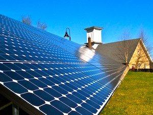 solar panels on church property